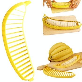 Banana Slicer Chopper Cutter Plastic Banana Salad Make Tool Fruit Salad Sausage Cereal Cutter Plastic Banana