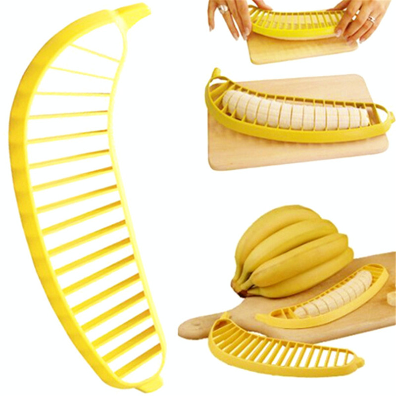 Banana Slicer Chopper Cutter Plastic Banana font b Salad b font Make Tool Fruit font b