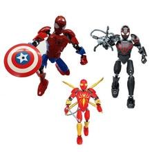 24.5cm Super Heroes Marvel Avengers Infinity War Spiderman Building Blocks Figures For Kid Brick Toy