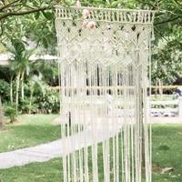 Hand woven Curtains Decorative Macrame Wall Hanging Creative Boho Decor Tapestry Mandala Ins Fabric Partition Curtain