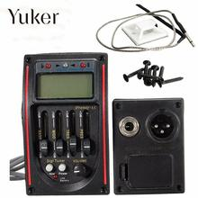 Yuker LC-5 5 Bands Acoustic Guitar Pickup EQ Preamp LCD Tuner Piezo Pickup Equalizer System