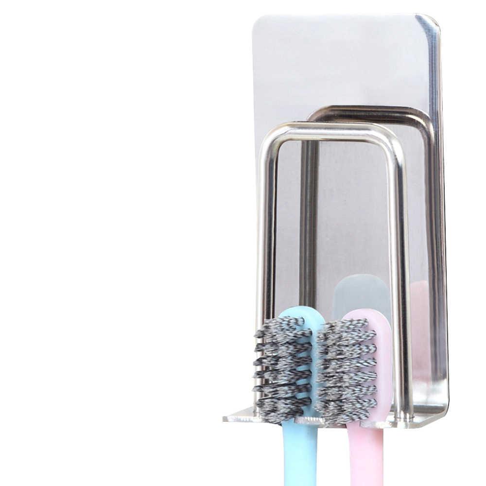 304 ze stali nierdzewnej do montażu na ścianie szczoteczki do zębów kubki stojak na silne ssania łazienka stojak uchwyt na półkę Brand New Fasionable