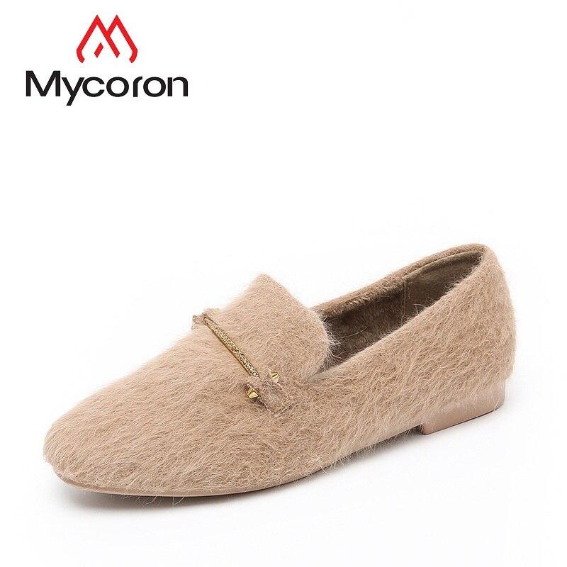 Mocassins Marque Automne Femme Appartements De Pour Sapatos Noir Mode En Feminino brown Plat Mycoron Hiver Véritable Femelle Cuir Chaussures wP8qdYvqgn