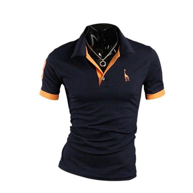 MENPOLO РУБАШКА! повседневная slim fit с коротким рукавом мужчин polo рубашка размер M-XXXL HT