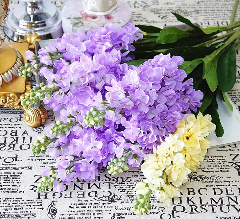 1pc artificial hyacinth violet flower branch fake silk flowers for 1pc artificial hyacinth violet flower branch fake silk flowers for spring home decor diy birthday party floral decoration flores in artificial dried mightylinksfo