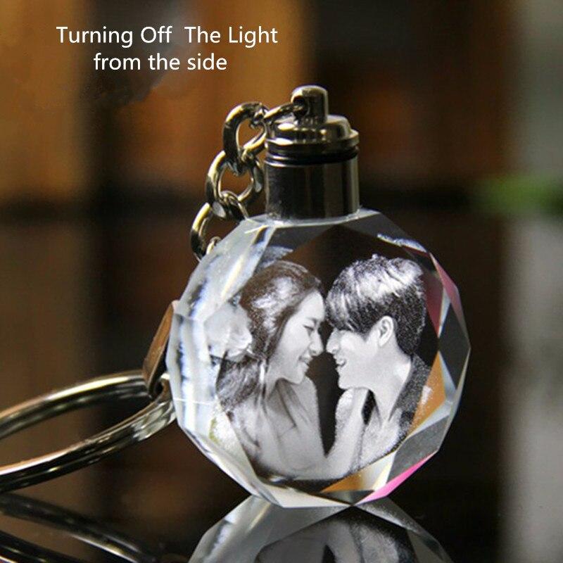 XINTOU Okrągłe LED Dostosowane Mini Brelok DIY Foto Laserowe - Wystrój domu - Zdjęcie 4
