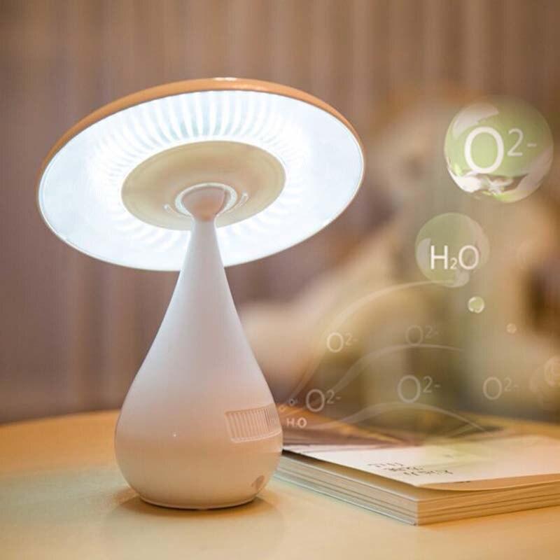 LED Mushroom Lamp <font><b>Air</b></font> <font><b>Purifier</b></font> for Home USB Anion <font><b>Purifier</b></font> Ozonizer <font><b>Air</b></font> Cleaner <font><b>Air</b></font> Ionizer