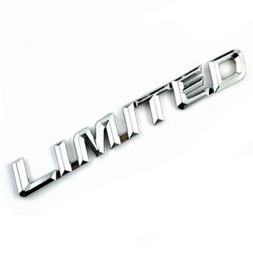 Dsycar 3D Metal LIMITED Car Sticker Emblem Badge For Jeep BMW Ford Volvo Nissan Mazda Audi VW Honda car Lada Kia Chevrolet DS dsycar 3d metal sport car sticker emblem badge for for universal cars motorcycle car styling decorative accessories chevrolet ds