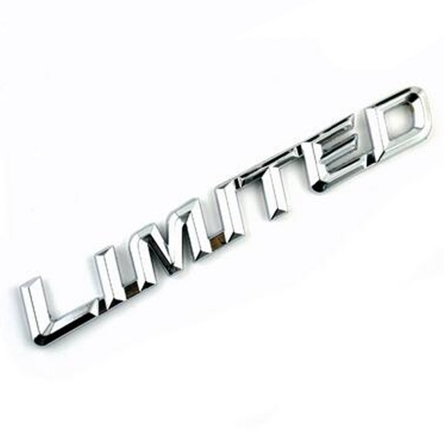 Dsycar 3d Metal Limited Car Sticker Emblem Badge For Jeep Bmw Ford