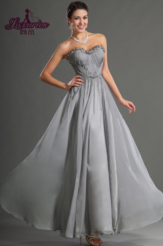 Charcoal Grey Prom Dresses
