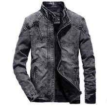 Denim Jacket men Autumn fashion Jeans Coat Male Slim Fit Casual Coats outwear jacket and coats M-4XL Plus size Outwear