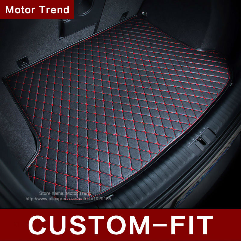 ФОТО Custom fit car trunk mat for Camry RAV4 Accord Corolla CRV Civic Fusion Escape Focus Explorer 3D car styling cargo liner