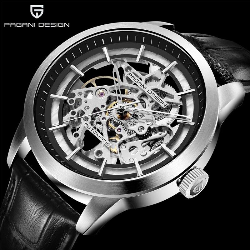 Mechanical Watch PAGANI DESIGN Luxury Men's Business Mechanical Watch Leather Skeleton Hollow Clock Waterproof Men's Automatic