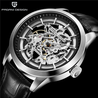 Mechanical Watch PAGANI DESIGN Luxury Men's Business Mechanical Watch Leather Skeleton Hollow Clock Waterproof Men's Automatic