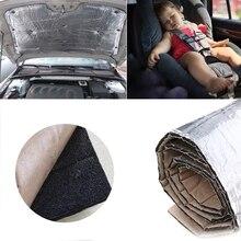 140 см x 100 см Автомобильный капот двигатель брандмауэр теплоизоляционный коврик Deadener звукоизоляция мертвый материал Алюминиевая Фольга Наклейка Высокое качество