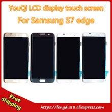 100% getestet für samsung galaxy s7 edge g935 g935f g935a G935FD G935P G935S LCD display touchscreen Digitizer gold freies verschiffen