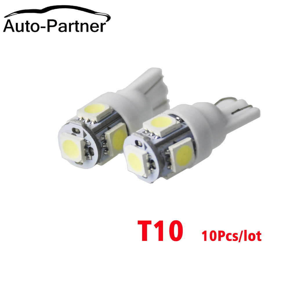 10Pcs <font><b>T10</b></font> W5W 168 194 SMD <font><b>LED</b></font> Car Wedge Side Light Bulb Lamp For Car Tail Light Side Parking Dome Door Map Lighting image