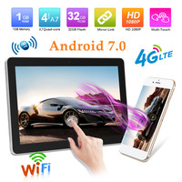 CL1024A 10.1 Inch 4G Android 7.0 Car Headrest Monitor Audio Video Player GPS Glonass Eye Protection Wireless WiFi Video Player