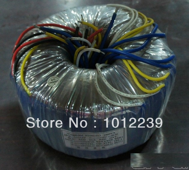 все цены на High quality 1000VA Toroid Transformer Input:0-115-230V output: 0-35*2(13A),0-48*2,0-12*2 онлайн