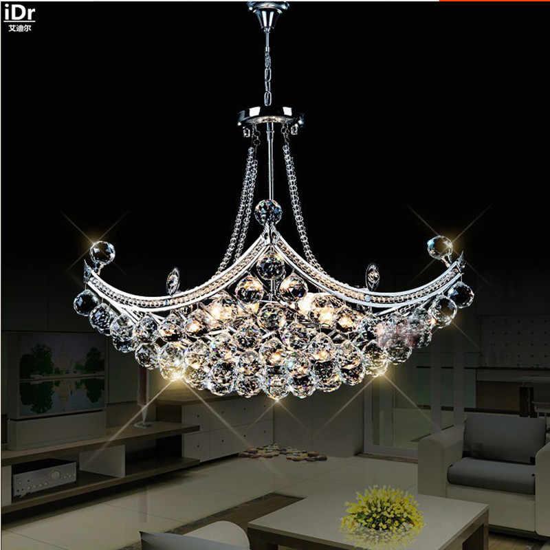 Творческий Corsair изысканный хрусталь современная мода минималистичный гостиная ресторан спальня светодиодный люстры Dia630xH400mm