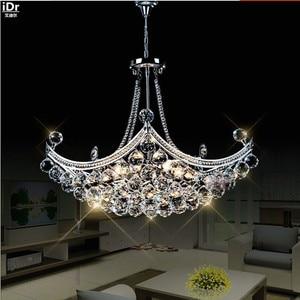 Image 1 - Creatieve Corsair Prachtige Kristal Moderne Mode Minimalistische Woonkamer Restaurant Slaapkamer Led Kroonluchters Dia630xH400mm