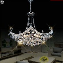 Creativo Corsair squisito di cristallo di modo moderno ristorante minimalista salotto camera da letto HA CONDOTTO Lampadari Dia630xH400mm