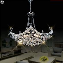 Kreatywny Corsair wykwintne kryształowe nowoczesne mody minimalistyczny salon restauracja sypialnia żyrandole sufitowe LED Dia630xH400mm