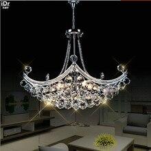 Yaratıcı Corsair zarif kristal modern moda minimalist oturma odası restoran yatak odası LED avizeler Dia630xH400mm