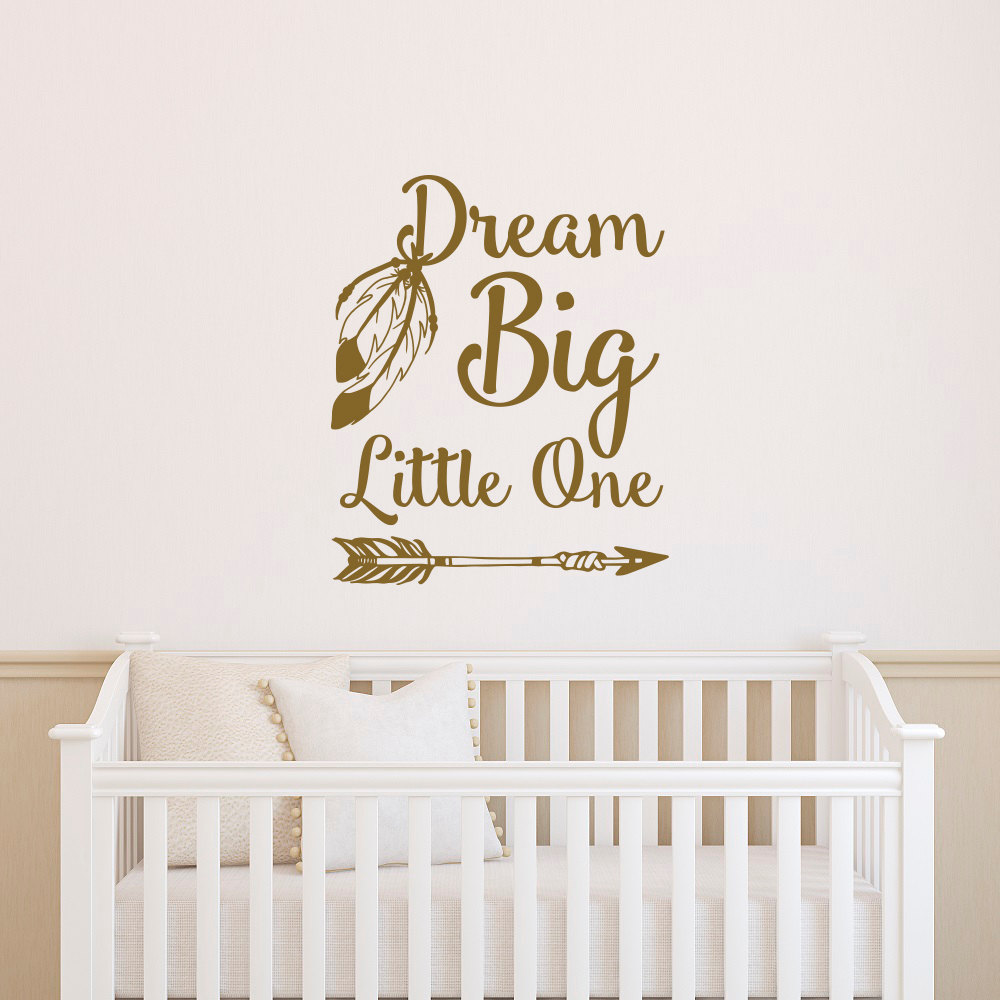 popular dream room furniture buy cheap dream room furniture lots dream big little one wall decal removable arrow vinyl wall sticker for kids room nursery baby