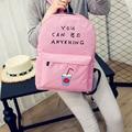 Top Quality 2016 Fashion Women Package Bag Letter School Bags Cute Women Travel Shoulder Bag Packbag