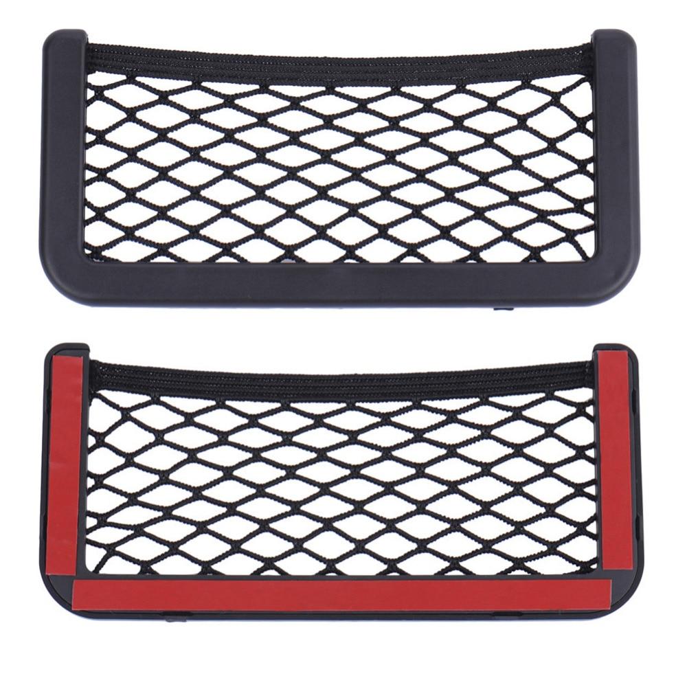 20 * 8CM 8 * 15CM Siège de rangement de sac de rangement côté organisateur net net de voiture siège de téléphone adhésif boîte accessoires auto