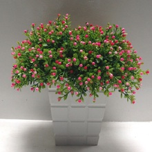 artificial flower Milan grass arrangement Green plant pot sitting room decorate Photo props furnish and