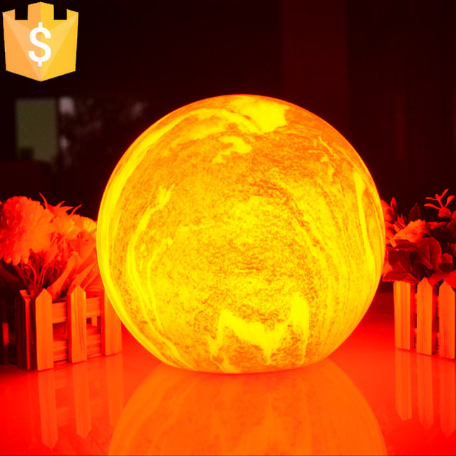 New Arrival Marble Ball Lamps Modern Livingroom Restaurant Bedroom Study  American Lounge Creative Christmas Decoration 4pcs/Lot