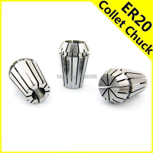 ER ER20 Collet Chuck Spring collets set Adapter Clamp Drill Bit Endmill milling cutter Cutting Tool PCB DIY Tools 1pcs