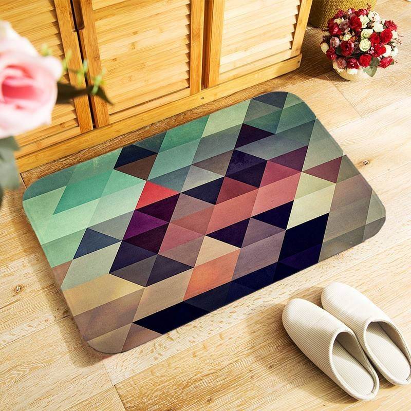 Small Area 40x60cm Outdoor Entrance Floor Rug For Bedroom Kitchen Hallway Doormat Anti-slip Door Mat 15 Styles Geometric Carpet