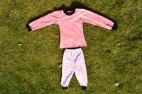 Family and Kids Strip Cotton Monogram Christmas Pajamas childrens pink top boutique sleepwear