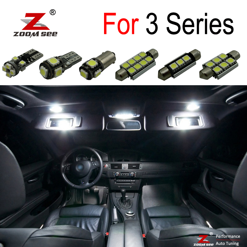 Perfect White Canbus Error Free LED Bulb Interior Dome Map Indoor Light Kit For BMW 3 Series E36 E46 E90 E91 E92 E93 (1990-2013)