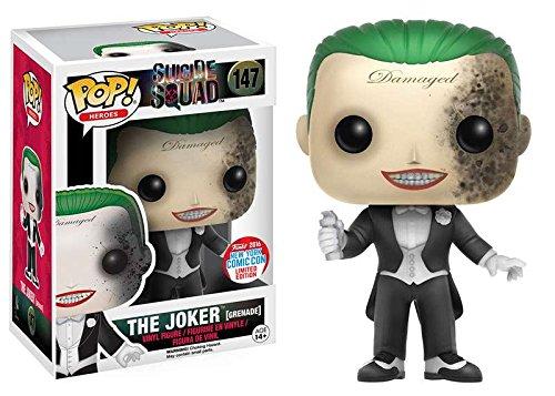 In Stock NYCC Exclusive Funko pop Official Suicide Squad - The Joker Grenade Vinyl Action Figure Collectible Model Toy  funko pop games illidan 14 pvc action figure collectible model toy 4 10cm kt2242