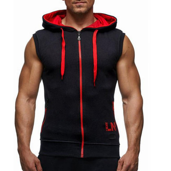 Bodybuilding Sleeveless Hoodies Fitness Men Sweatshirts