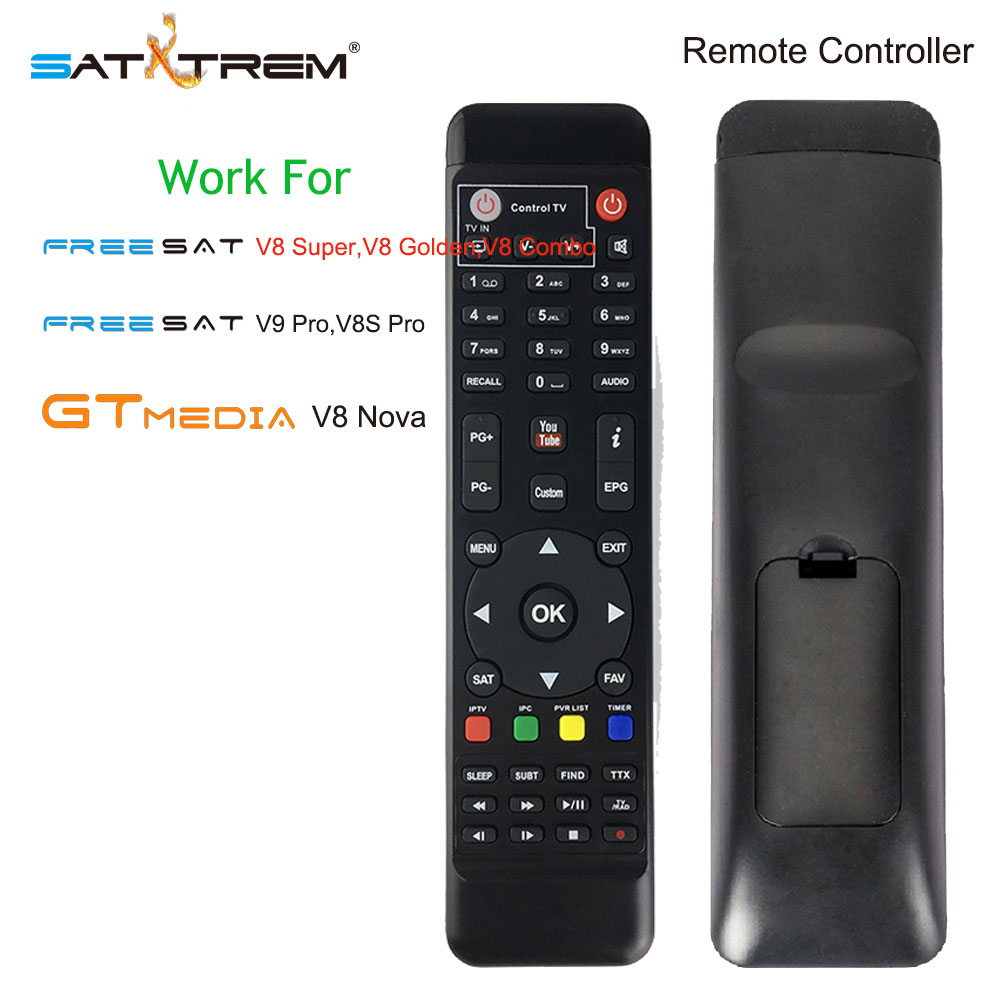 Remote Control For Digital Satellite Receiver FreeSat GTmedia V8 Super V8 Golden V8 Nova DVB-S2 DVB-T2 DVB-C IPTV Box alilo медиаплеер классный зайка v8 c bluetooth