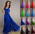 Pretty beautiful girl Cheap Long Chiffon A-Line Forma Evening dress Party  Free shipping