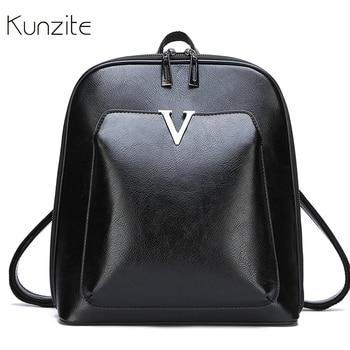 a0c4bd72e514 Product Offer. Известный Дизайн Для женщин рюкзак женский коричневый,  черный однотонные кожаные рюкзаки для девочек большой Ёмкость Школьные  Сумки Sac ...