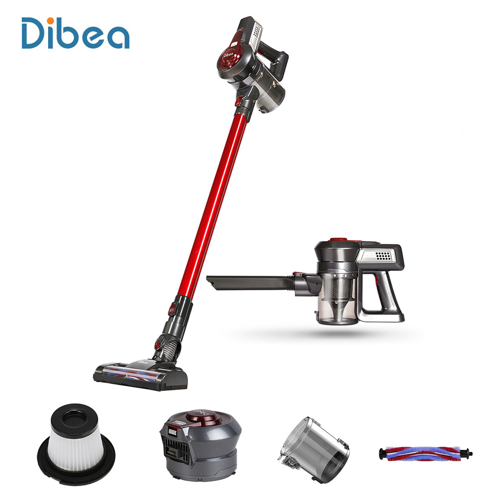 Dibea C17 Portable 2 In1 Cordless Stick Handheld Vacuum Cleaner Dust Collector Household Aspirator With Docking Station Sweeper drill buddy cordless dust collector with laser level and bubble vial diy tool new