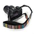 New Camera Strap Vintage National Cotton Shoulder Neck Stripe Strap Belt For Nikon For Sony For Canon SLR DSLR Camera