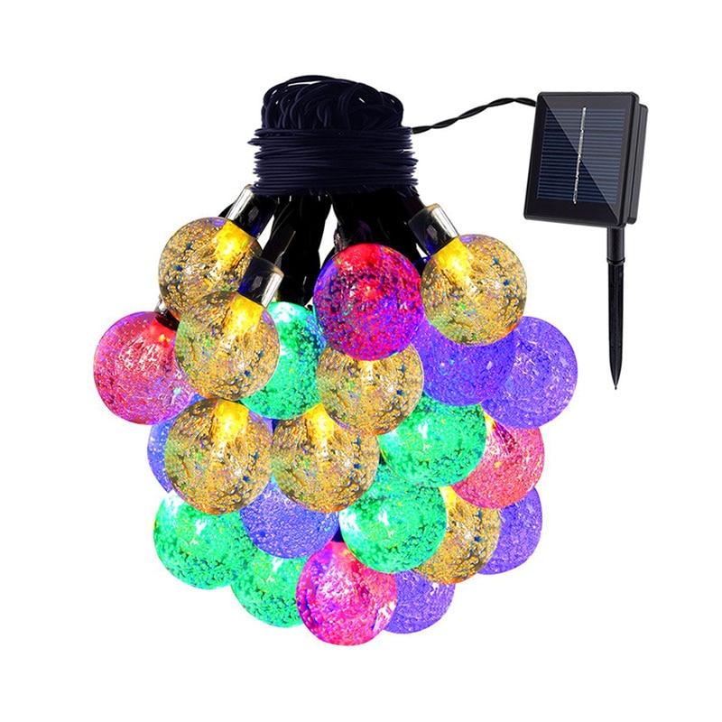 LED Solar String izzó fénycsík lámpa teljesítmény kültéri vízálló fesztivál karácsonyi esküvői kerti dekoráció party fények 6m