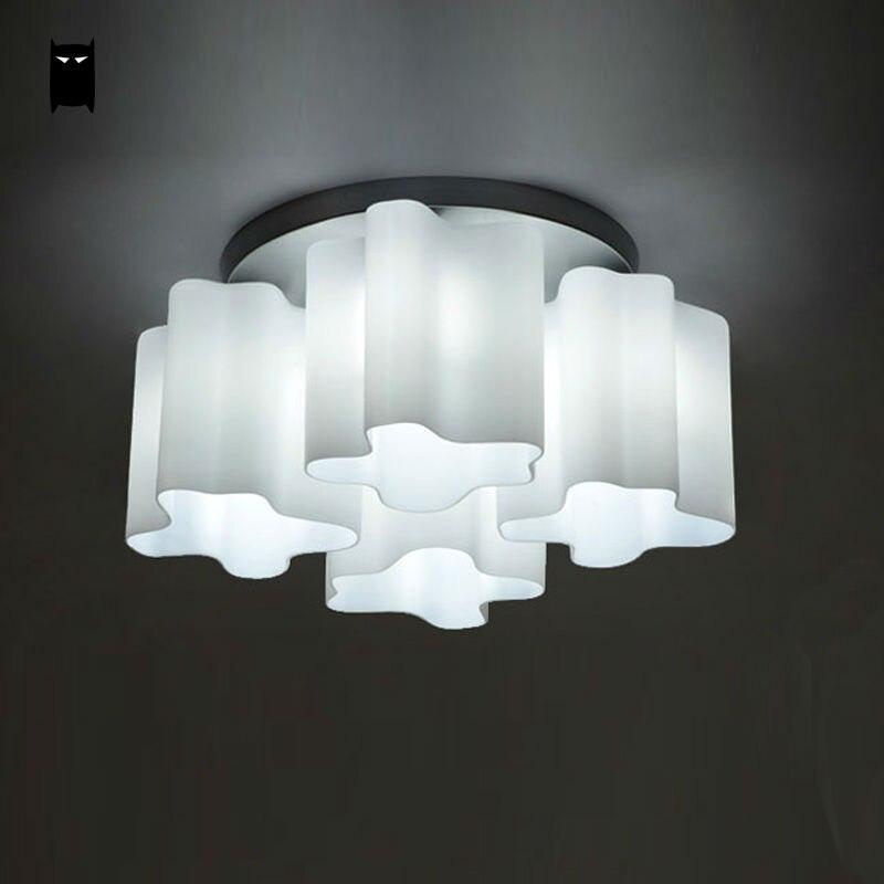 Glass Acrylic Round Cloud Ceiling Light Fixture Modern Nordic Art ...