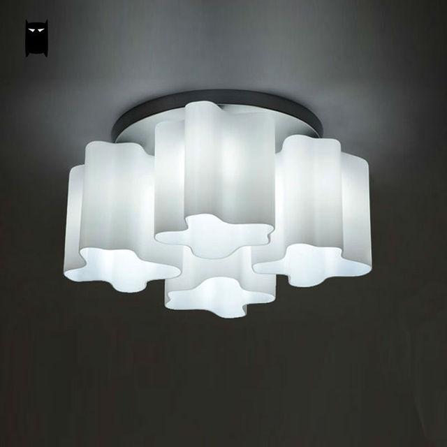 Glass Acrylic Round Cloud Ceiling Light Fixture Modern Nordic Art Deco Hanging Lamp Re Avize Luminaria