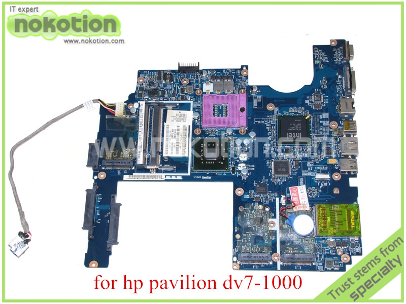 NOKOTION JAK00 LA-4081P SPS 500592-001 For hp pavilion DV7 DV7-1000 laptop motherboard GM45 DDR2 working perfectly for hp pavilion dv7 laptop motherboard la 4082p jak00 480366 001 480365 001