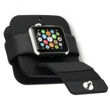 Силиконовый зарядный кабель, подставка для часов Apple Watch 4, док-станция для часов, держатель для iWatch 38 мм, 42 мм, серия 1, 2, 3