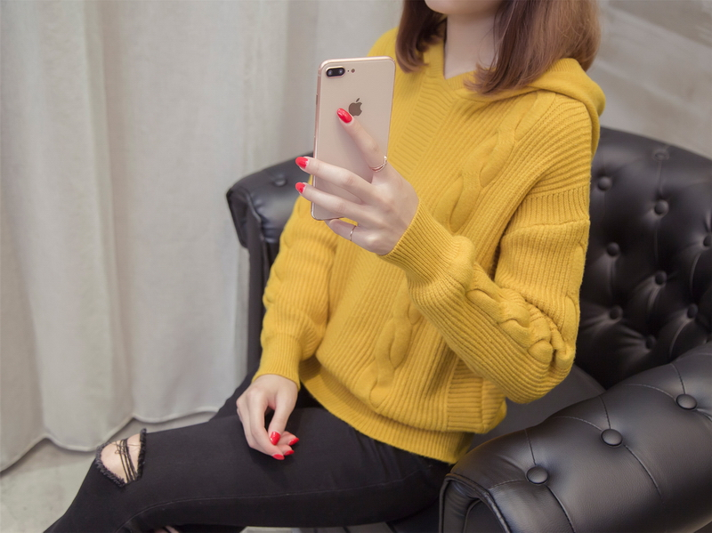 white Para Yellow El 2018lz831 blue Spring De Chompas Lady Sweater Pullover Hooded Fashion Invierno Loose Women yellow Mujer Khaki 0UwxH0Pq